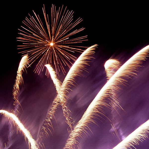 Photograph - Fireworks In The Night by Helen Northcott