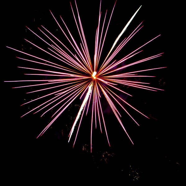 Photograph - Fireworks In The Night II by Helen Northcott