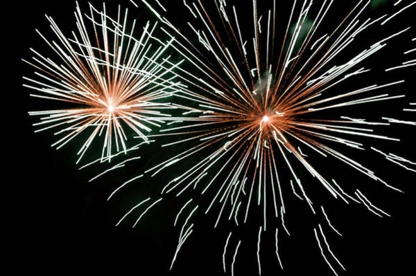 Photograph - Fireworks In The Night IIi by Helen Northcott