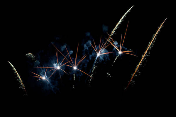 Photograph - Fireworks In The Night Iv by Helen Northcott