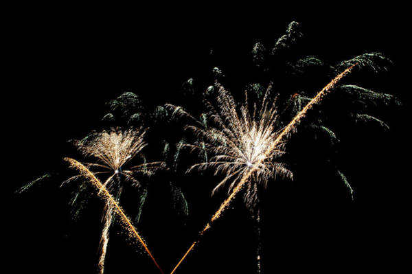Photograph - Fireworks In The Night V by Helen Northcott