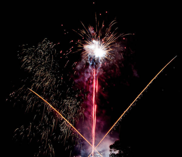 Photograph - Fireworks In The Night Vi by Helen Northcott