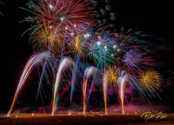 Photograph - Fireworks Line by Rikk Flohr