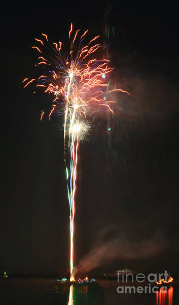 Fireworks On The Lake Art Print