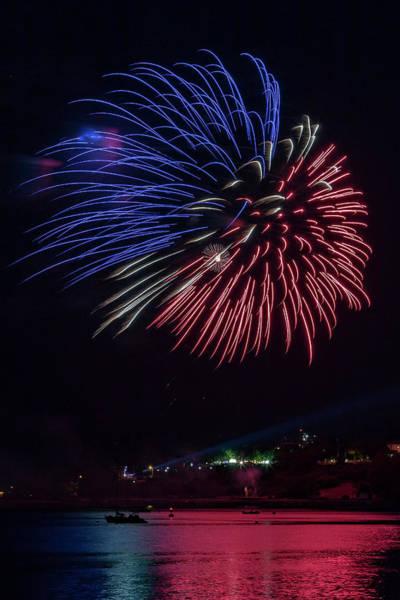 Fireworks Over Portland, Maine Art Print