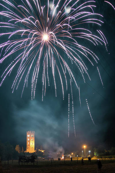 Photograph - Fireworks Over The Church by Matteo Viviani