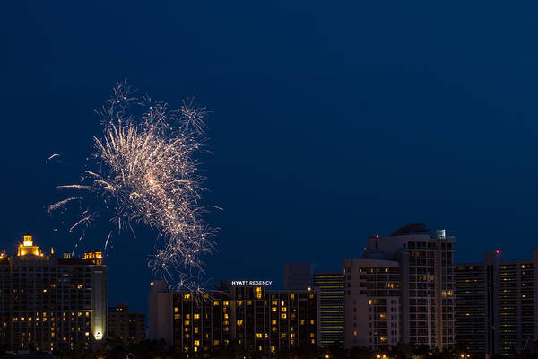Photograph - Fireworks Sarasota 1 by Richard Goldman