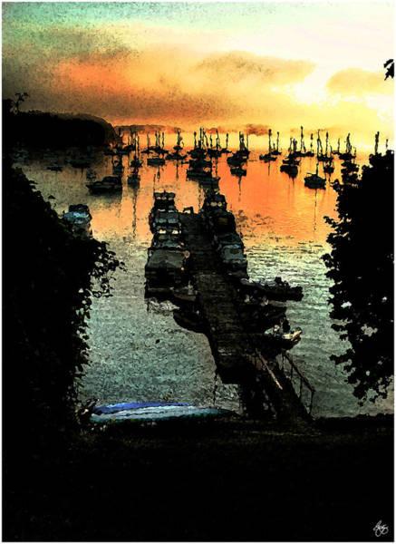 Photograph - Firey Dawn On Mallets Bay by Wayne King