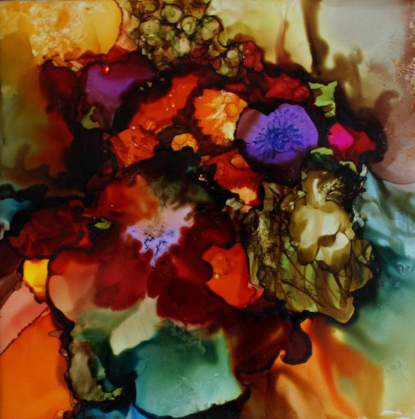 Painting - Firey Floral by Joanne Smoley