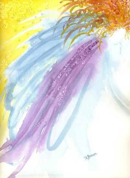 Painting - Firey Hair Angel by Deborah Brown Maher