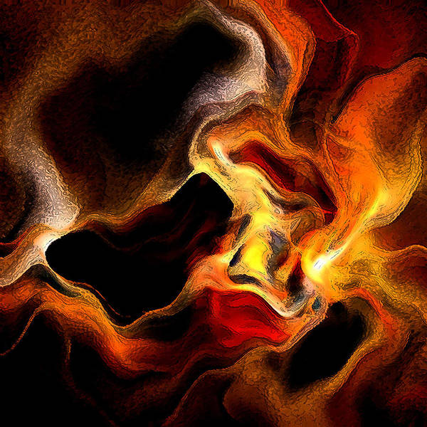 Wall Art - Digital Art - Firey by Ruth Palmer
