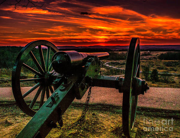 Photograph - Firey Sky At Little Round Top by Nick Zelinsky