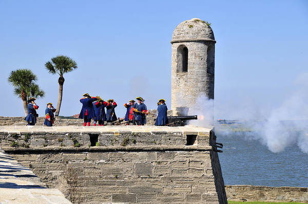 Saint Augustine Florida Photograph - Firing On The British by David Lee Thompson