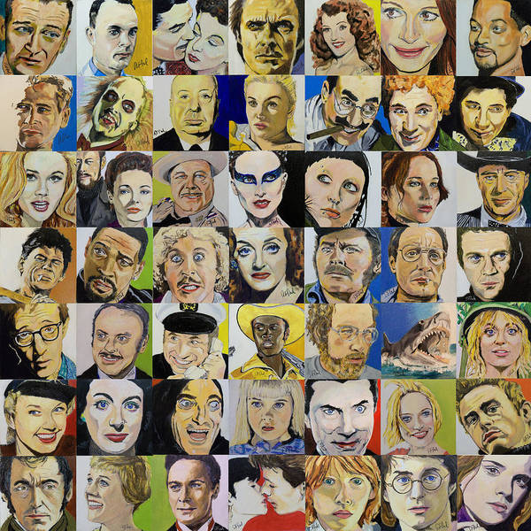 The Marx Brothers Painting - First 49 Squares by Steve Teets
