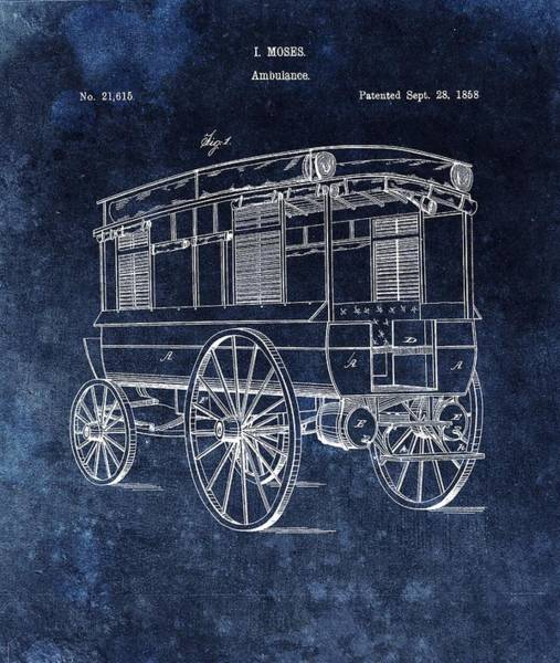 Drawing - First Ambulance Patent by Dan Sproul