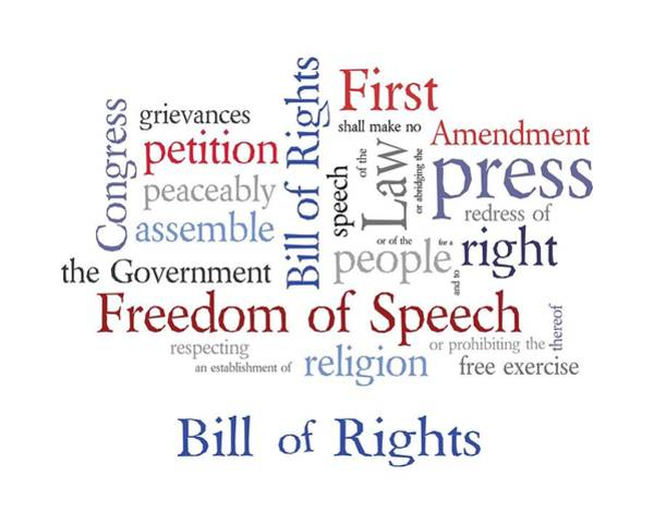Journalist Digital Art - First Amendment - Bill Of Rights by Antique Images