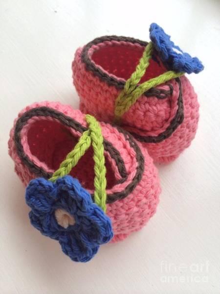Crochet Digital Art - First Baby's Louboutine by Viktoriya Sirris