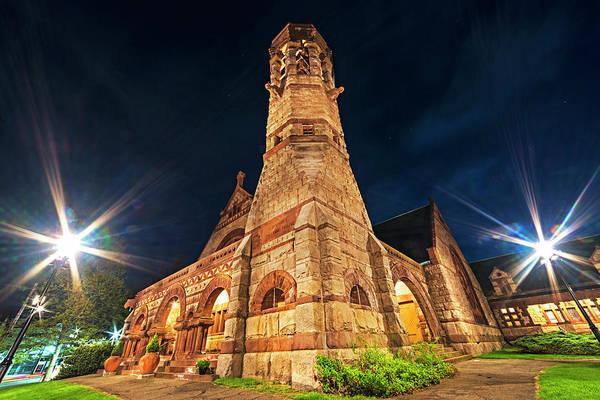 Photograph - First Baptist Church Newton Center Newton Ma by Toby McGuire