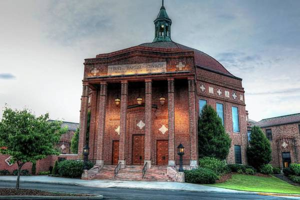 Photograph - First Baptist Church Of Asheville North Carolina by Carol Montoya