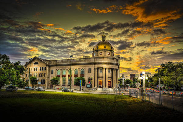 First Photograph - First Baptist Church Of Tampa by Marvin Spates