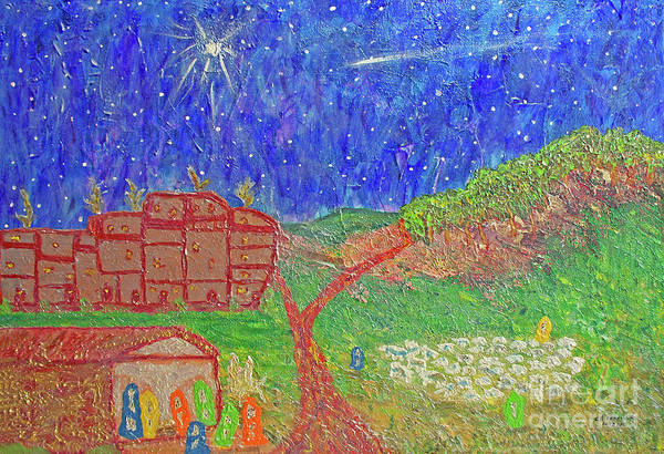 Painting - First Christmas In Bethlehem by Carl Deaville
