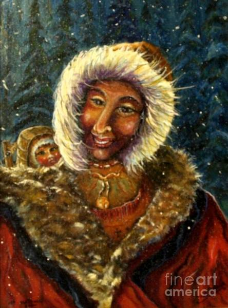 Mixed Media - First Christmas Snow by Philip Bracco