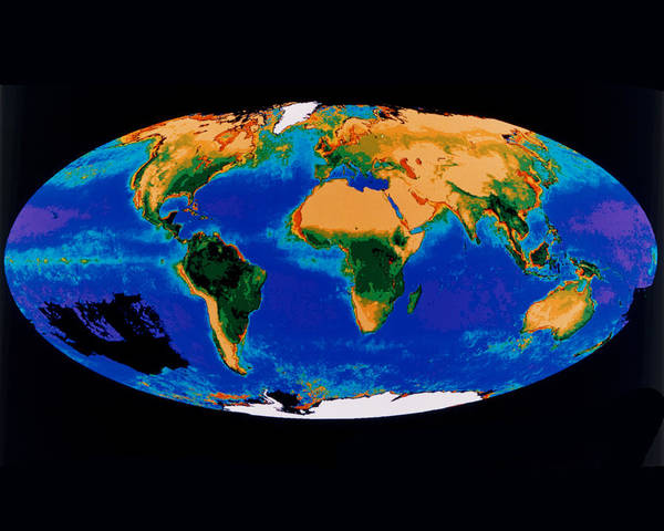 Photograph - First Composite Image Of The Global Biosphere by Artistic Panda