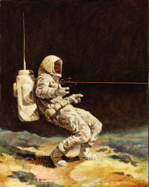 Wall Art - Painting - First Contact by Richard Hescox