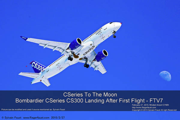 Wall Art - Photograph - First Airbus A220-300/bombardier Cseries Cs300 First Flight by Sylvain Faust