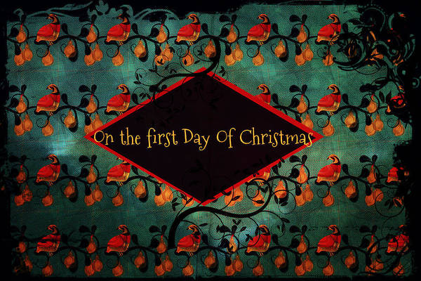 Digital Art - First Day Of Christmas by Sherry Flaker