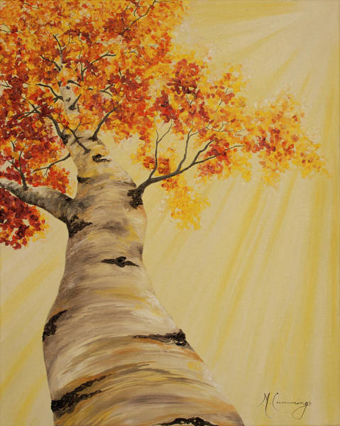 Painting - First Fall Light by Melinda Cummings
