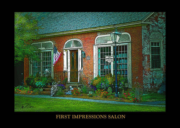 Photograph - First Impressions Salon In Woodstock Vermont by Nancy Griswold