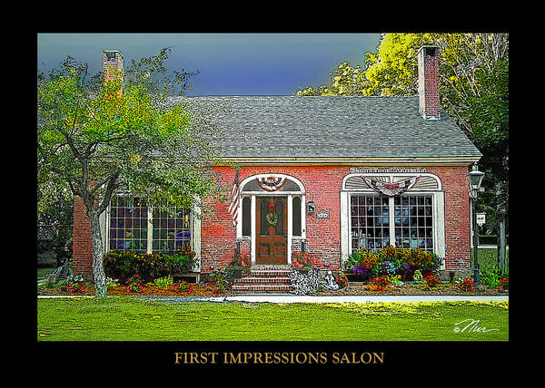 Photograph - First Impressions Salon by Nancy Griswold