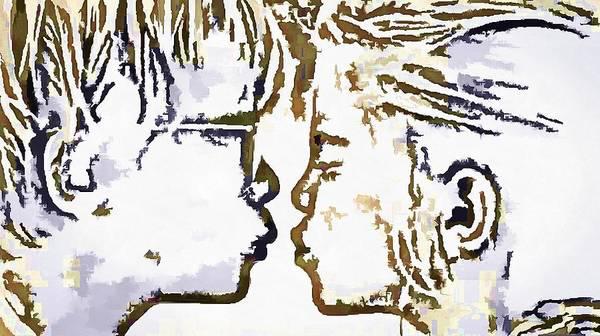Digital Art - First Kiss Pop Art by Catherine Lott