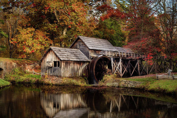 Photograph - First Light At Mabry Mill by Deborah Scannell