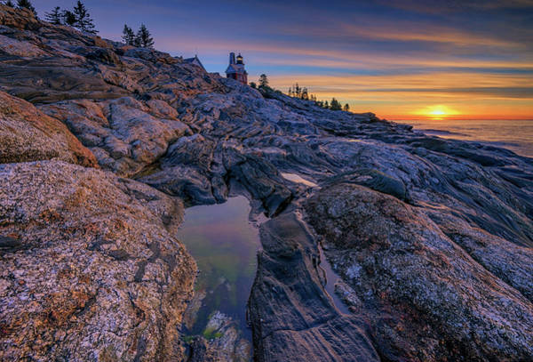 Photograph - First Light At Pemaquid Point by Rick Berk