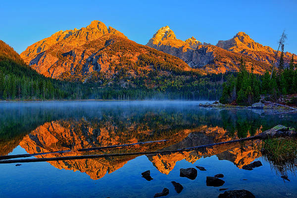 Photograph - First Light At Taggart Lake by Greg Norrell