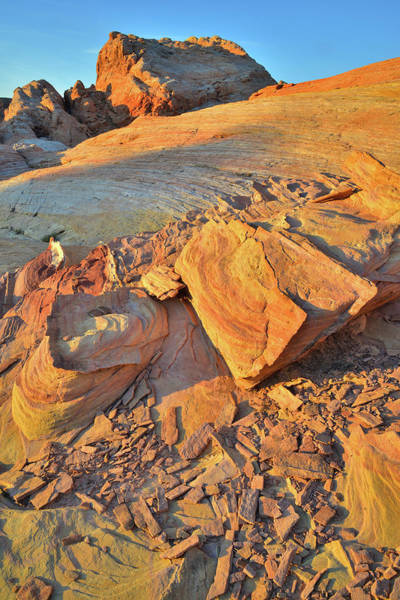 Photograph - First Light High Above Wash 3 In Valley Of Fire by Ray Mathis