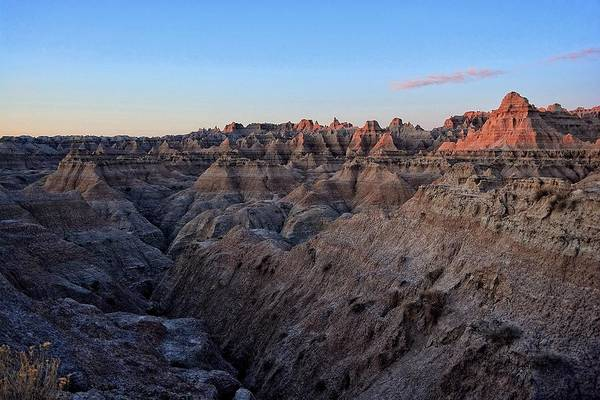 Photograph - First Light In The Badlands by Fiskr Larsen