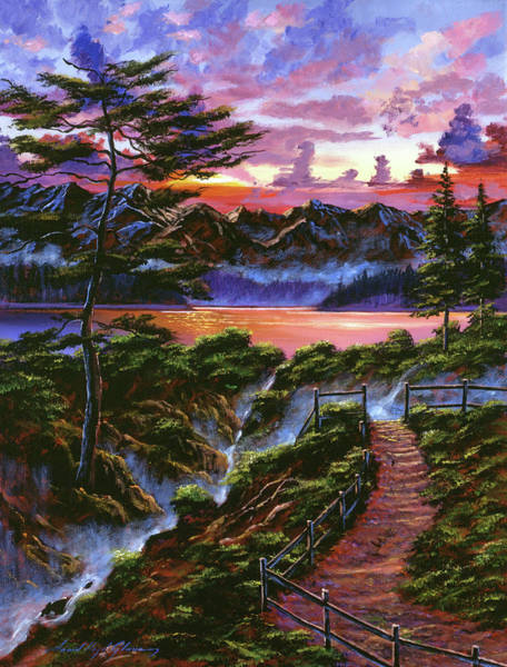 Painting - First Light Morning Sky by David Lloyd Glover