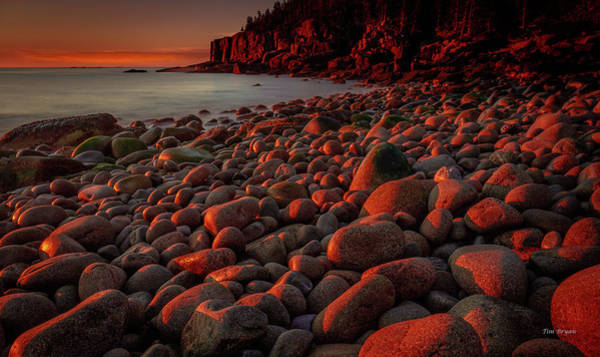 Photograph - First Light On A Maine Coast by Tim Bryan