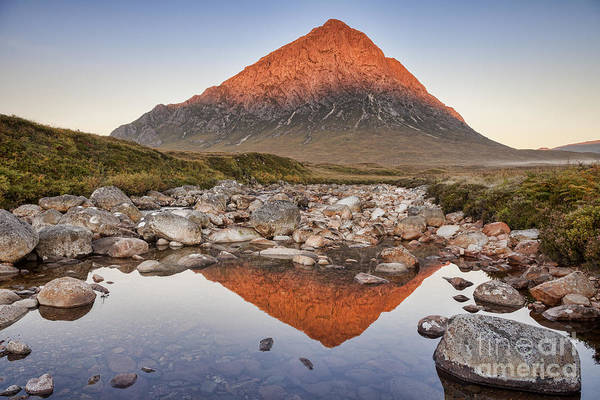Glencoe Photograph - First Light On Buachaille Etive Mor by Colin and Linda McKie