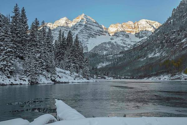 Photograph - First Light On Maroon Bells 3 by Jemmy Archer