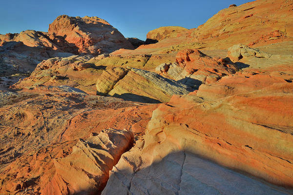 Photograph - First Light On Sandstone Slopes Of Valley Of Fire by Ray Mathis