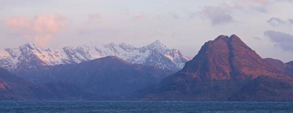 Photograph - First Light On Sgurr Na Stri And The Cuillin Ridge by Stephen Taylor