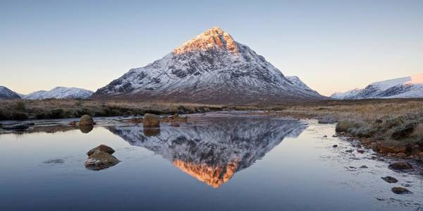 Photograph - First Light On The Buachaille by Stephen Taylor