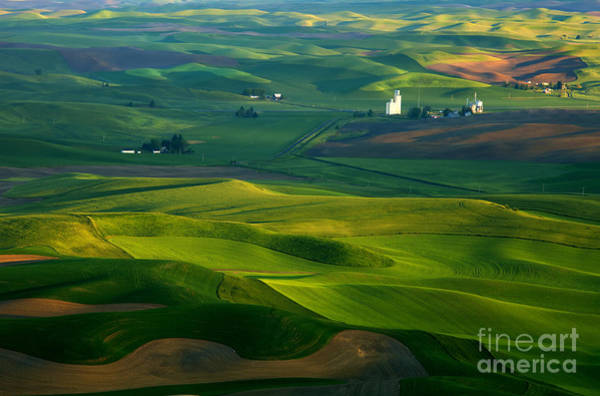 Palouse Photograph - First Light On The Palouse by Mike  Dawson
