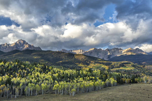 Photograph - First Light On The Sneffels Range by Denise Bush