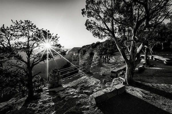 Wall Art - Photograph - First Light Over Yavapai Black And White by Eduard Moldoveanu