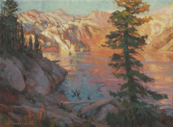 Outdoor Wall Art - Painting - First Light Wilderness by Steve Henderson
